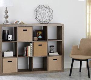 New!! 12 cube organizer, bookcase, bookshelves, organizer, living room furniture, storage unit , rustic gray for Sale in Phoenix, AZ
