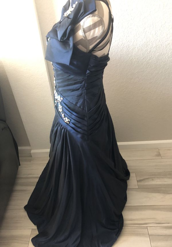 Long Royal Blue Tony Bowls Dress Size 8 Perfect for Halloween Costume Great Gatsby or Masquerade