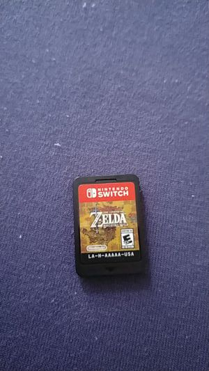 Zelda breath of the wild Nintendo switch game for Sale in Silver Spring, MD