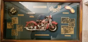 1936 Stars and Stripes Biker/Motorcycle Collectible framed with glass front. $40 for Sale in Raleigh, NC