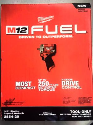 """Milwaukee 3/8"""" Stubby Impact Wrench Brushless Fuel M12 for Sale in Norwalk, CA"""