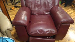 Red Reclining Chair for Sale in Weidman, MI