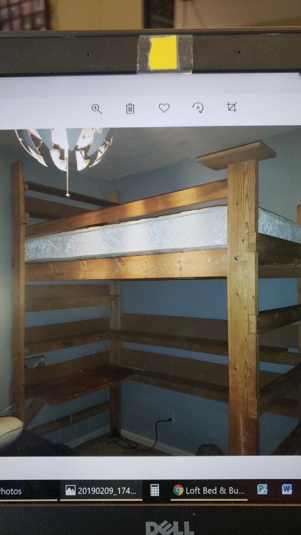 All in one sleep and study loft bed from College Loft Beds