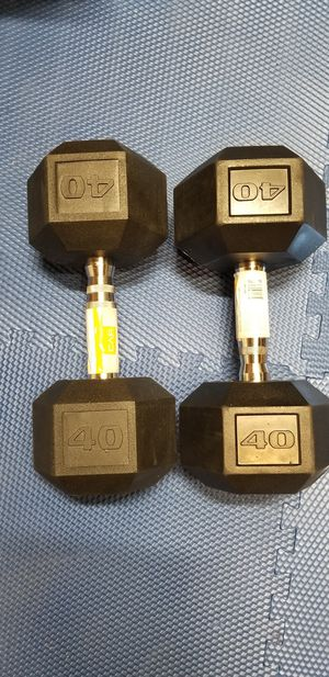 Dumbbells pair of 40lbs dumbbells for Sale in Rialto, CA
