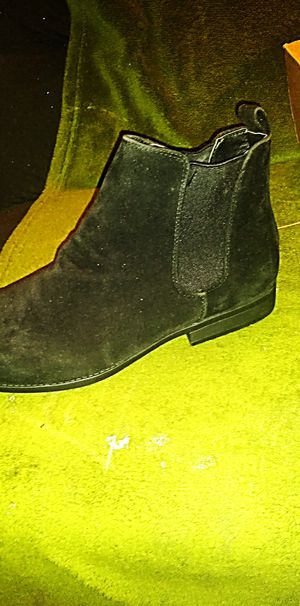 Black Suede ASOS men boot size 14 cut small fits 13 for Sale in New York, NY