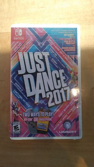 Just dance 2017 for Nintendo switch for Sale in Redlands, CA