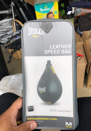 Everlast leather speed bag for Sale in Kent, WA