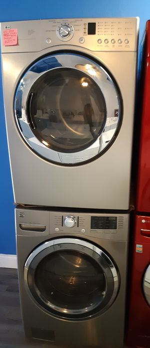 LG FRONT LOAD ELECTRIC DRYER AND KENMORE WASHER WORKING PERFECTLY 4 MONTHS WARRANTY for Sale in Baltimore, MD