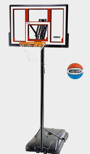 Lifetime Adjustable Portable Basketball Hoop (Basketball Included), 90491 for Sale in Norfolk, VA