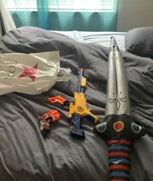 Nerf guns and toy sword for Sale in Dallas, TX