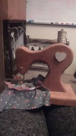 Wooden replica sewing machine for Sale in Lakeland, FL