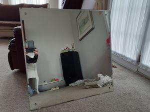 1940s Louis Bierfeld Mirror 32x32 #10 of 200 Very Heavy for Sale in Media, PA
