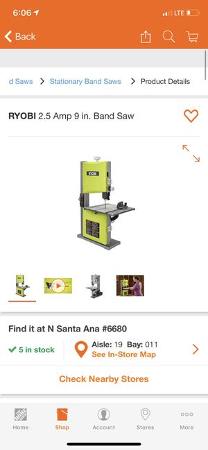 New RYOBI 2.5 Amp 9 in. Band Saw for Sale in Paramount, CA