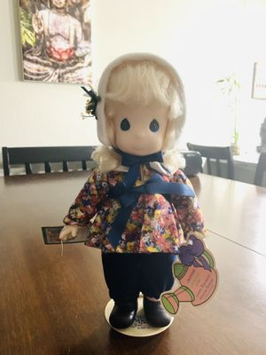 Precious Moment Porcelain January Month Doll New with Tag and stand for Sale in Pembroke Pines, FL