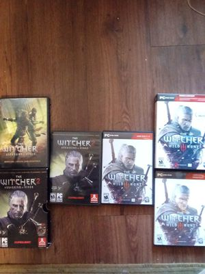 Witcher 2 and Witcher 3 pc dvd rom set for Sale in Spokane, WA