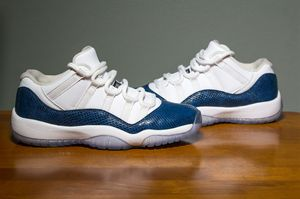 Jordan 11 Low ''Snakeskin Navy'' Size 7Y for Sale in Dallas, TX