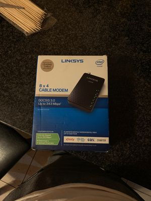Linksys cable modem for Sale in Chicago, IL