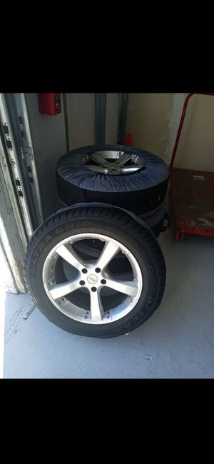 18 inch aftermarket rims brand new tires great condition 5×114.3 for Sale in Hamden, CT