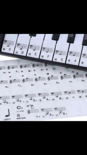 Best Transparent Piano Key Note Keyboard Stickers - Learn Teach to Play Music for Sale in Los Angeles, CA