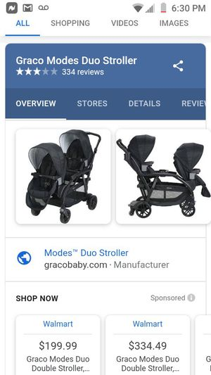 Modes duo. Double stroller for Sale in Sanger, CA