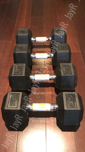 35lb, 30lb Dumbbell Pair - Brand New 130lb Weight Set for Sale in Homeland, CA