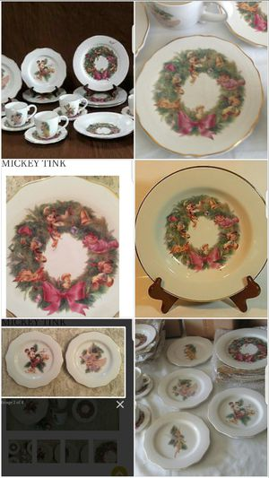 DISNEY Christmas characters COLLECTABLE PLATES SET 15 for Sale in Norwalk, CA