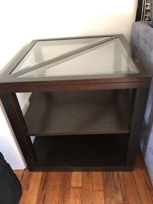 2 square end tables and 1 L shaped table for Sale in Arlington, VA