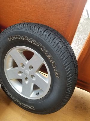 Brand new jk jeep wheel and tire for Sale in Boston, MA