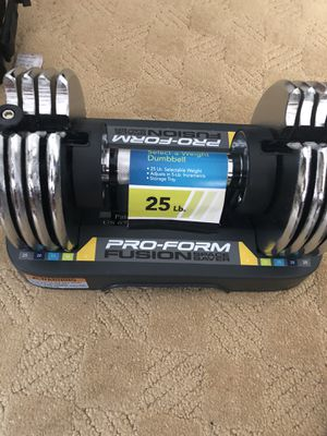 Pro-form adjustable dumbbell for Sale in Chino Hills, CA