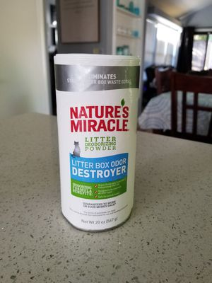 Nature's Miracle Cat and Kitten Litter Box Odor Destroyer Powder for Sale in Carmichael, CA