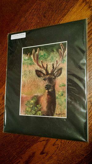 Brand New Signed Art Print by NW Artist - Deer in Meadow for Sale in Lynnwood, WA