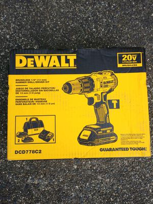 "DeWalt 20 Volt Brushless 1/2"" Hammer Drill Kit With 2 Batteries & Charger for Sale in Tacoma, WA"