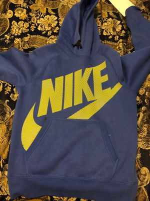 Nike hoodie blue and yellow small size for Sale in Everett, WA