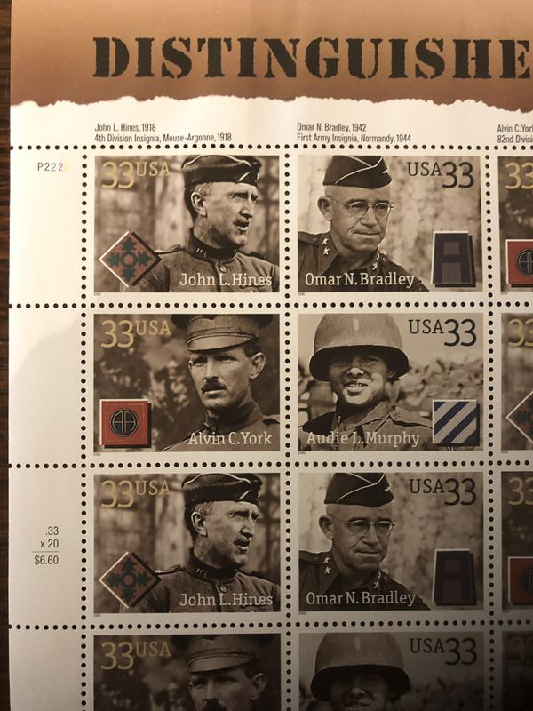 Distinguished Soldiers Stamps