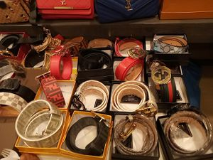 All real designer belts hats scarfs bags wallets big and small purses for Sale in Washington, DC