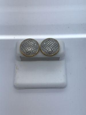 10k yellow gold earrings .30 carat diamonds for Sale in Renton, WA