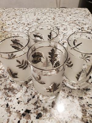 Vintage libby silver leaf Hostess glasses for Sale in Livingston, CA