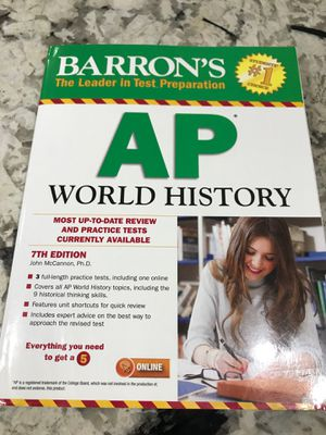 Barron's AP World History Test Prep Book for Sale in Fort Washington, MD