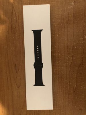 Apple Watch 44m black silicone sports band for Sale in Fresno, CA