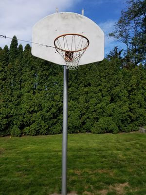 Basketball hoop, backboard and post extra heavy duty for Sale in Kent, WA