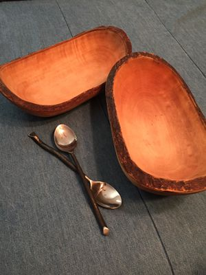 Wooden bowls and spoons for Sale in Midland, TX