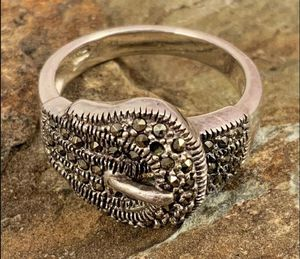 Sterling Marcasite Belt Buckle Ring for Sale in Roswell, GA