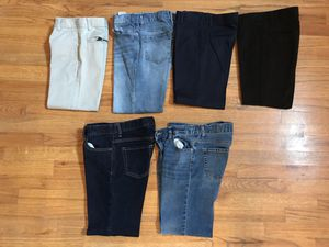 6 pairs of Boys size 10 HUSKY pants for Sale in Kennesaw, GA
