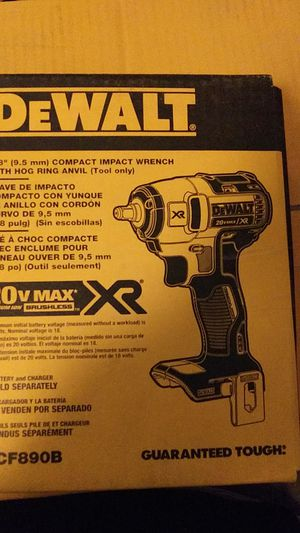 """Dewalt 3/8"""" compact impact wrench w/hog ring anvil (dcf890b tool only) for Sale in Brighton, CO"""