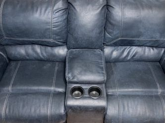 Navy blue Manual Reclining Sofa Set for Sale in Chicago,  IL