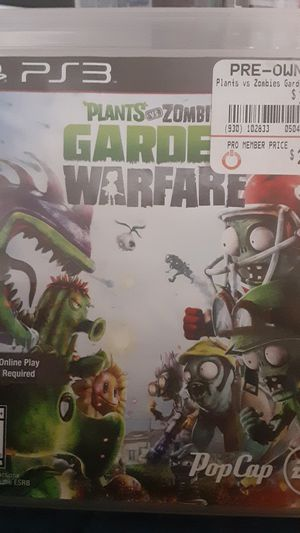 Planets Vs Zombies Garden Warfare Ps3 for Sale in Charlotte, NC