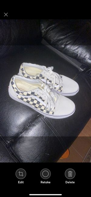 Vans CheckerBoard White And Black for Sale in Greenbelt, MD