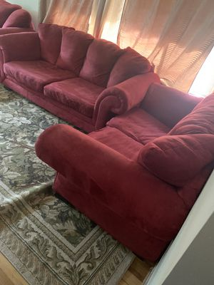 3 couch for sale very good condition dark red color for Sale in Wichita, KS