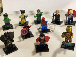 10 mini figures of Marvel's hero's for Sale in Bell, CA