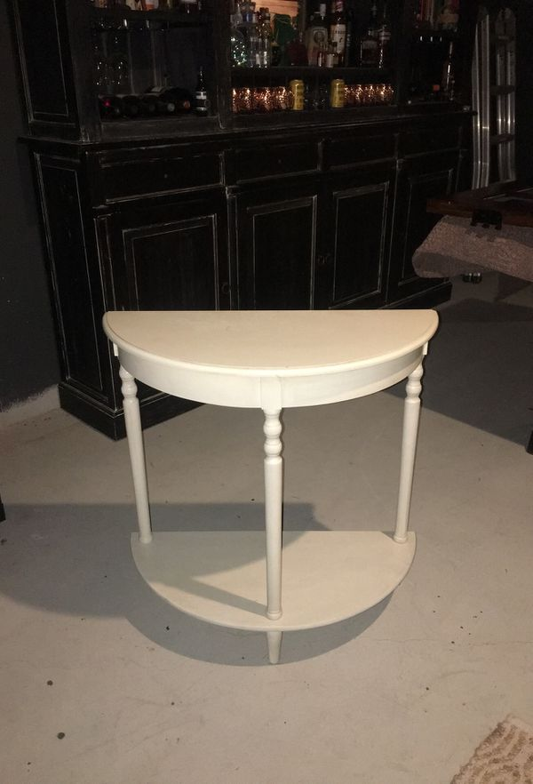 Off white console table
